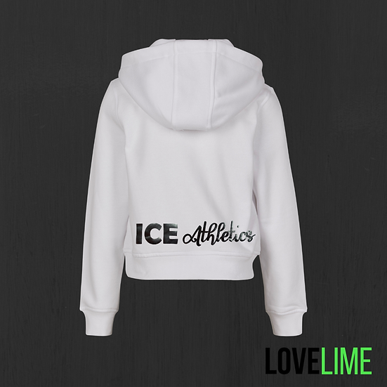 Kids White Cropped Hoodie