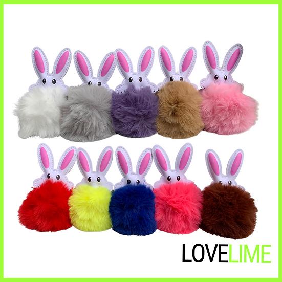 Easter Bunny Pom keyrings