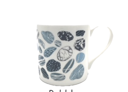 Pebbles Bone China Mug