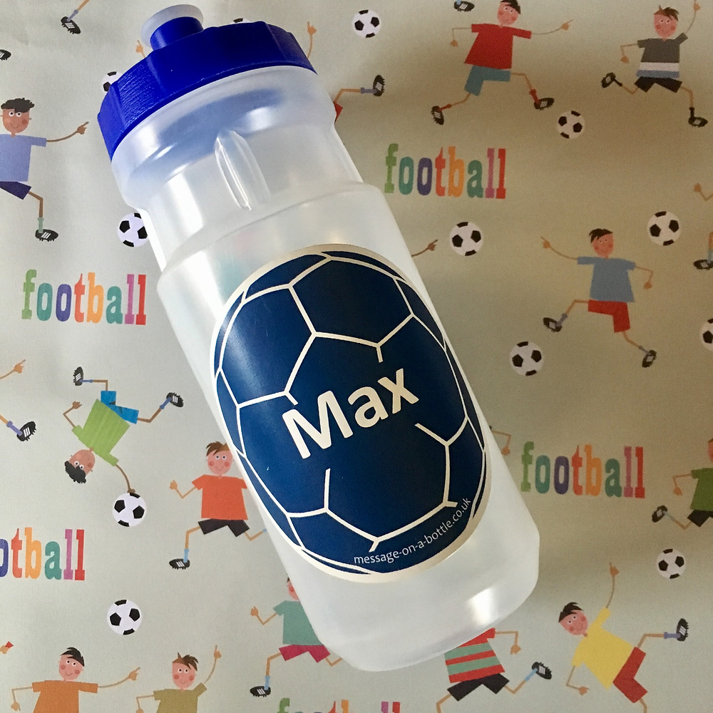 Football Water Bottle 550ml Screw Top