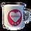 Personalised Heart Enamel Mug