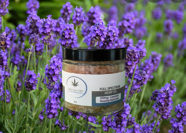 100mg Bath Salt - Lavender Rosehip