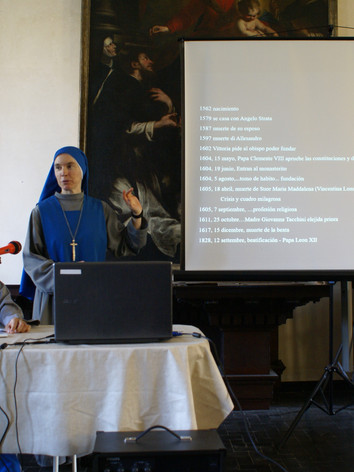 Exposión sobre la vida de la Beata Vitto
