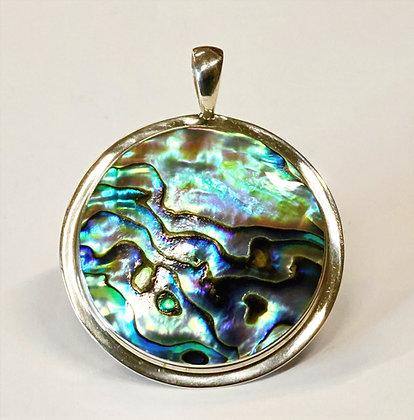 Sterling Silver Paua Shell Pendant