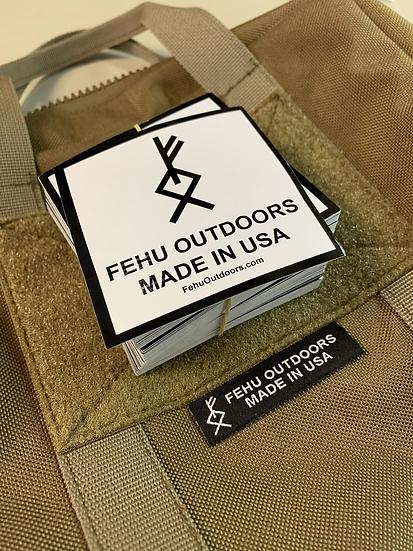 Fehu Logo Stickers (Pack of 3)