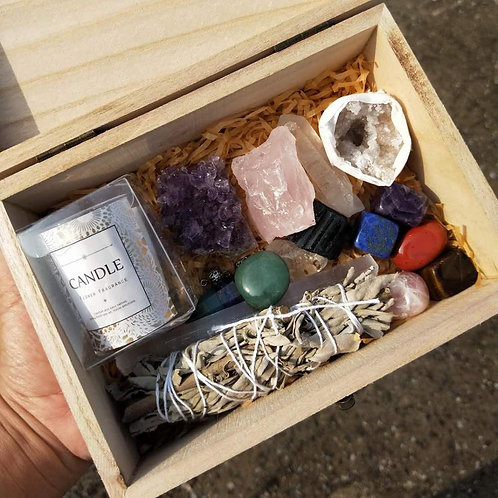 Custom Set Meditation Box 7 Chakra Healing Stone