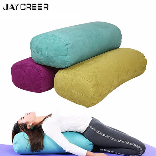 JayCreer Yoga Bolster Rectangular - Washable Cover Organic Yoga Bolster
