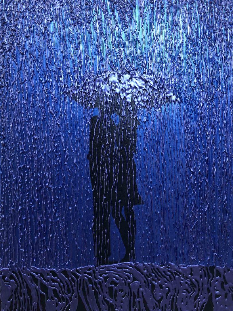 50x70, Purple Rain