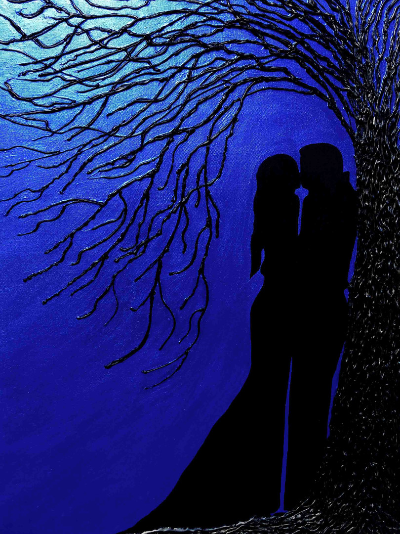 50x70, Into the Blue, by Elle Nechville