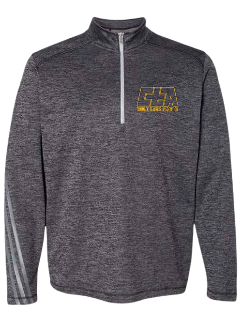 Adidas - Brushed Terry Heathered Quarter-Zip Pullover