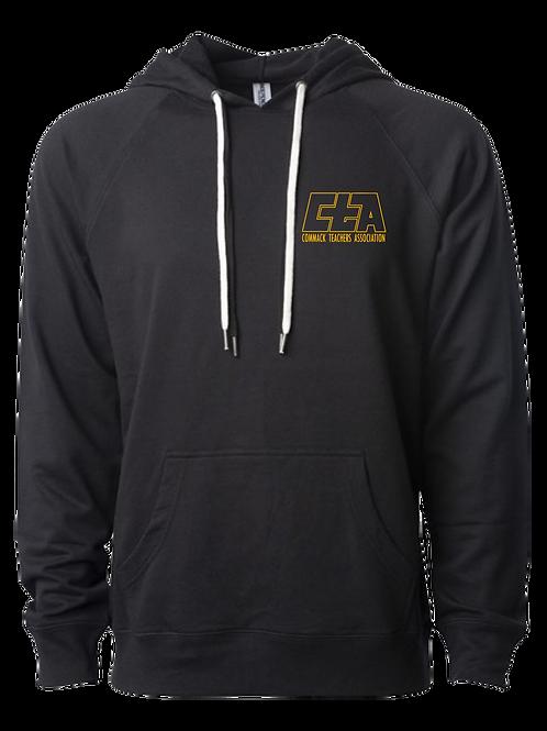Unisex Lightweight Loopback Terry Hooded Sweatshirt