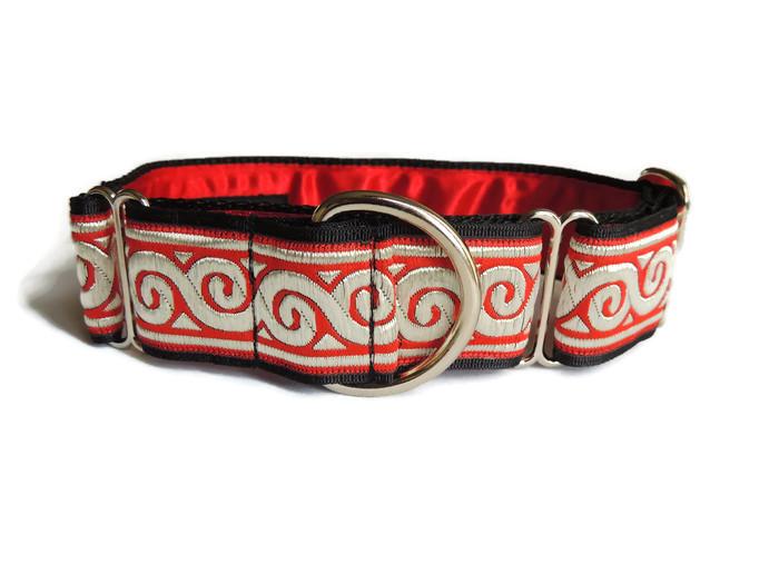 Woven Red Swirls