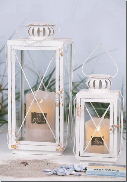Antik hvidt sommer lanternesæt