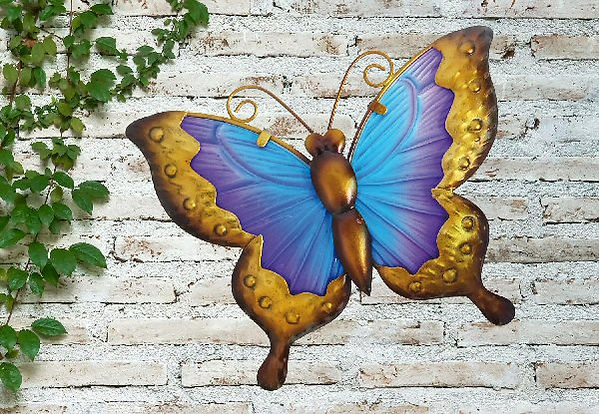 25cm-butterfly-glass-wall-art---blue-pur