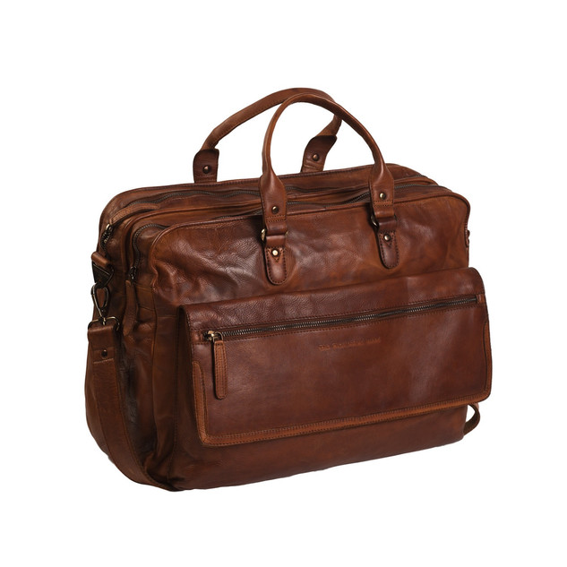 the Chesterfield Brand laptoptas cognac €279,95