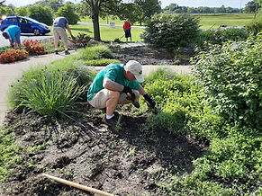 Grace Memorial Garden cleanup 6 8 2021 5