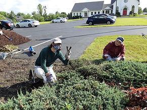 Grace Memorial Garden cleanup 6 8 2021 1
