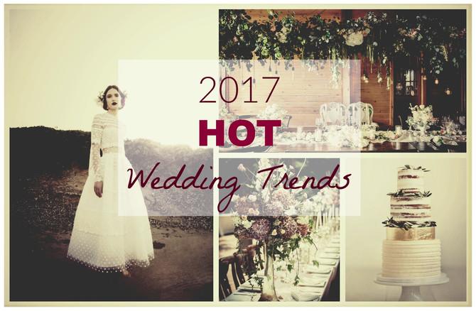 2017 Hot Wedding Trends