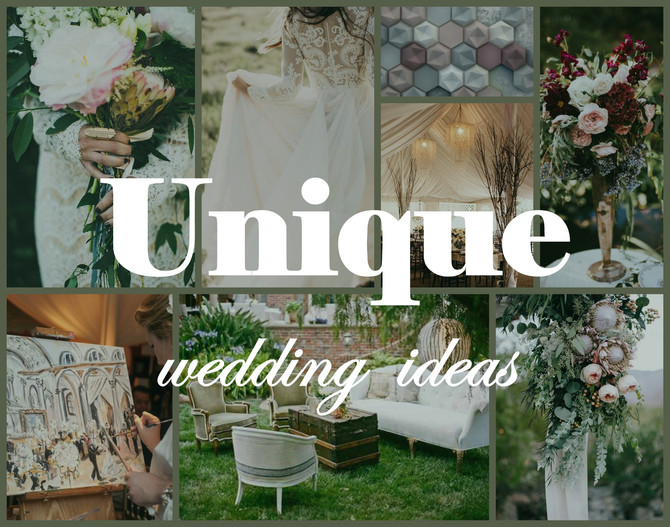 Beautiful and unique ideas for your wedding!