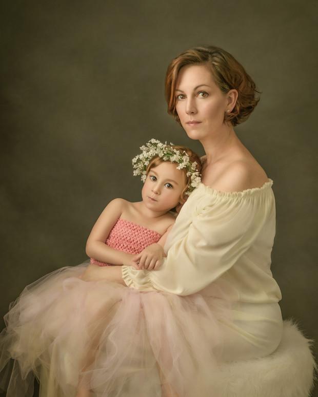 Krista Berg and Daughter