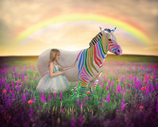 Girl With Zebra