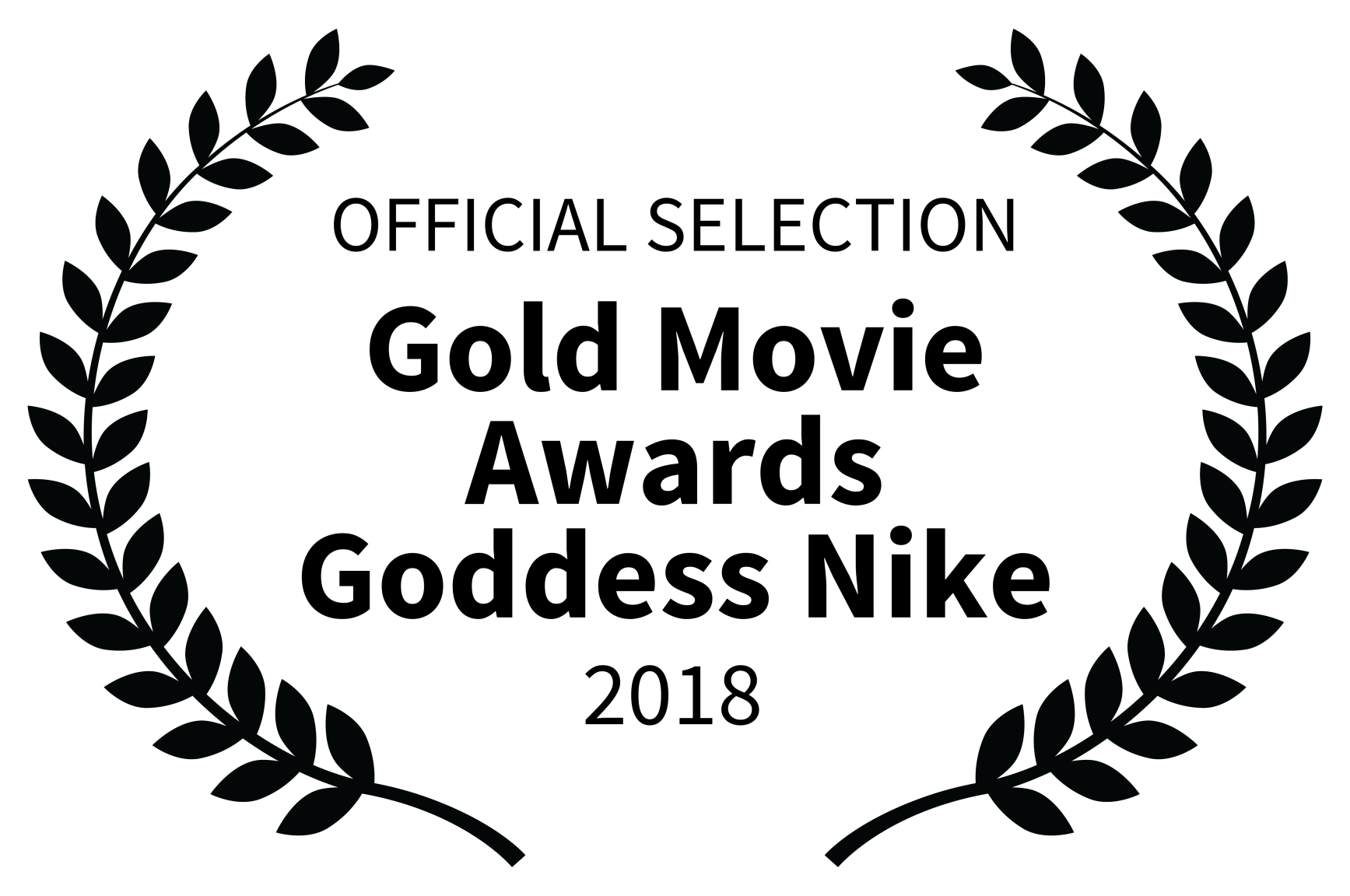 OFFICIAL SELECTION - Gold Movie Awards Goddess Nike - 2018