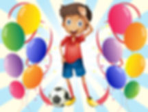 Illustration of a soccer player in the middle of the balloons on a white background.jpg