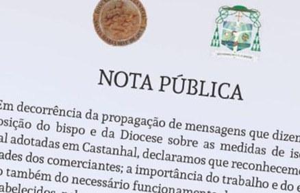 Covid-19: Nota Pública de D. Carlos