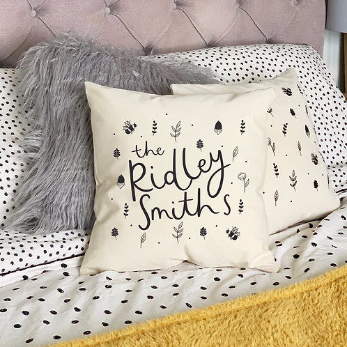Personalised Name Cushion Cover by Abbie Imagine
