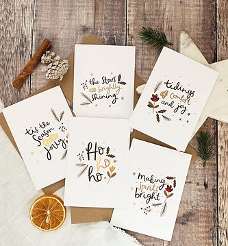 Gold foil christmas cards by abbie imagine