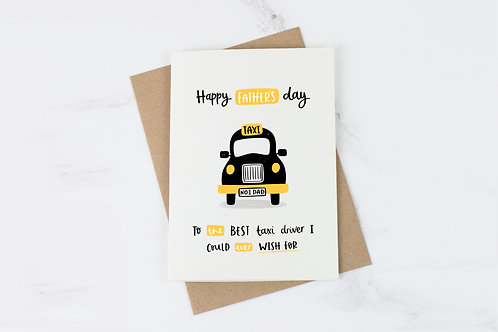 Taxi Driver Father's Day Card