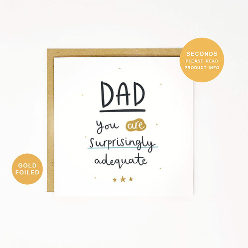Surprisingly Adequate Father's Day Sale Greeting Card by Abbie Imagine