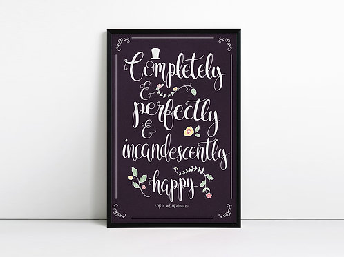 Completely and Perfectly - Jane Austen Print