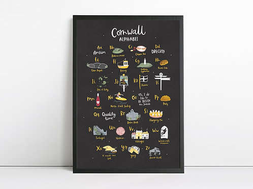Cornwall Alphabet Print by Abbie Imagine