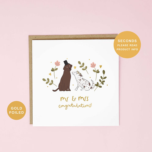 Mr and Mrs Seconds Sale Wedding Greeting Card by Abbie Imagine