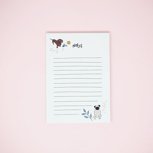 A6 illustrated dogs notepad by abbie imagine