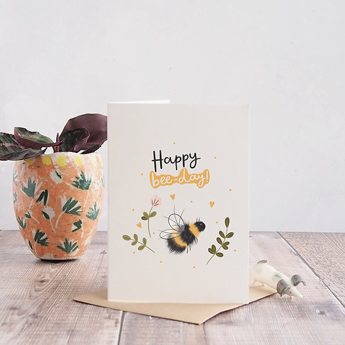 Bee Birthday Card by Abbie Imagine