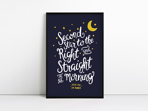 Second Star to the Right - Peter Pan Print