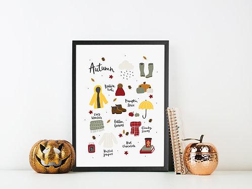 Autumn Illustrated Print