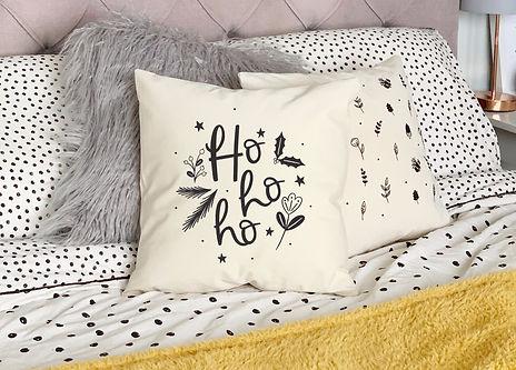 Ho Ho Ho Christmas cushion decor by abbie imagine