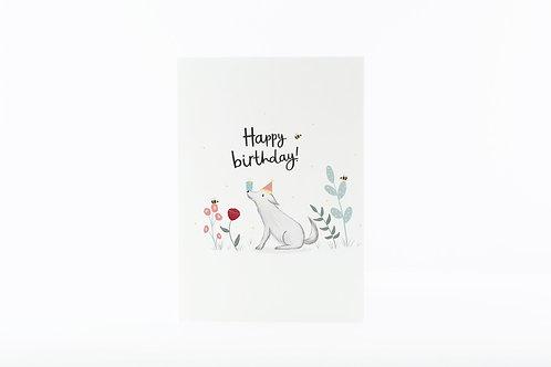 Happy birthday dog card by abbie imagine