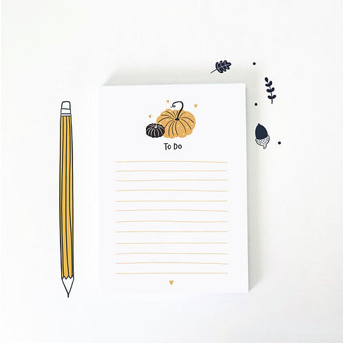 Pumpkin A6 Notepad by Abbie Imagine