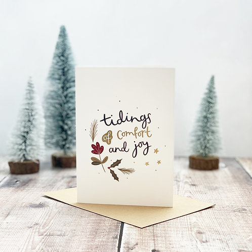 Tidings of comfort and joy Christmas card by abbie imagine