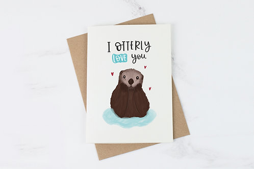 I Otterly Love You - Love Card