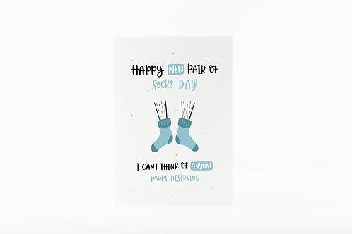 New Socks Day Card