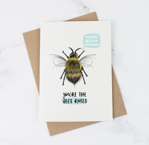 Youre the bees knees card abbie imagine typography prints this simple and cute illustrated bee thank you card is perfect for saying youre great youre the best this animal card features a bee illustration and m4hsunfo