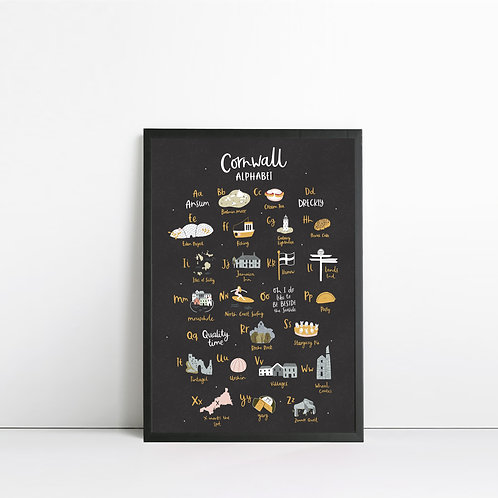 Cornwall Alphabet Print