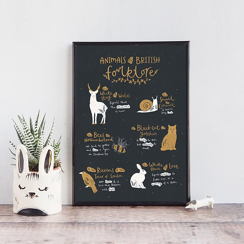 Animals of British Folklore print by abbie imagine