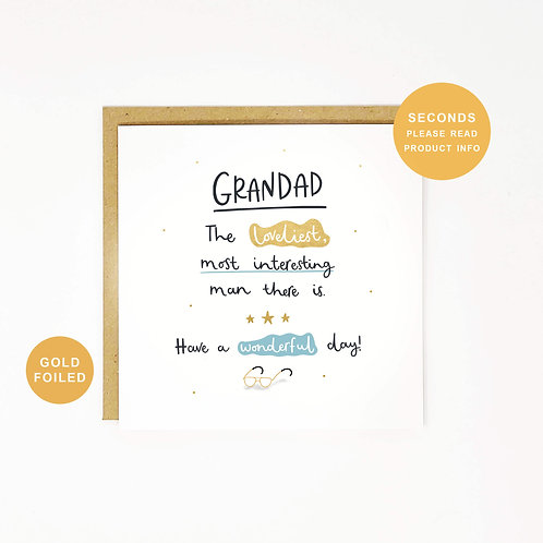 Grandad Father's Day Sale Greeting Card by Abbie Imagine