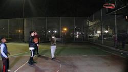 The boys playing ball